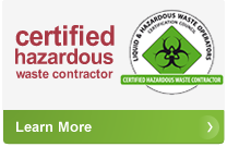 Certified hazardous waste contractor